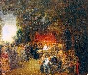 The Marriage Contract WATTEAU, Antoine