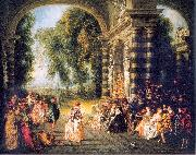 The Pleasures of the Ball WATTEAU, Antoine