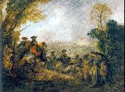 On the March WATTEAU, Antoine