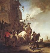 Hunters and Horsemen by the Roadside (mk05) WOUWERMAN, Philips