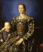 Eleonora of Toledo and her Son Giovanni (mk08) Agnolo Bronzino