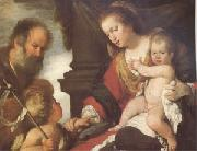 The Holy Family with John the Baptist (mk05) Bernardo Strozzi