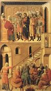 Peter's First Denial of Christ and Christ Before the High Priest Annas (mk08) Duccio di Buoninsegna