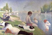 Bathers at Asnieres (mk09) Georges Seurat