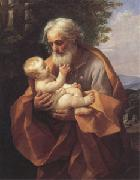 Joseph with the christ child in His Arms (san 05) Guido Reni