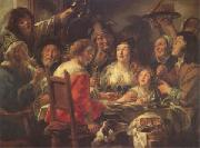 The King Drinks Celebration of the Feast of the Epiphany (mk05) Jacob Jordaens