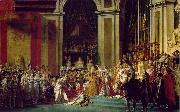 The coronation of Napoleon and Josephine (mk02) Jacques-Louis David