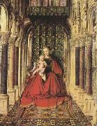 The Virgin and Child in a Church (mk08) Jan Van Eyck