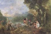 The Embarkation for Cythera (mk05) Jean-Antoine Watteau