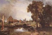 Dedham Lock and Mill (mk09) John Constable