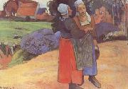 Breton Peasants (mk09) Paul Gauguin