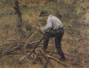 Pere Melon Sawing Wood,Pontoise (nn02) Camille Pissarro