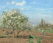 Orchard in  Bloom,Louveciennes (nn02) Camille Pissarro