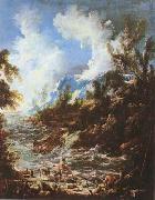 Seascape with Fishermen and Bathers (mk08) MAGNASCO, Alessandro