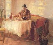 Breakfast Before the Hunt (nn02) Anna Ancher