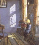 Sunshine in the Blue Room (nn02) Anna Ancher