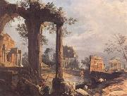 A Caprice View with Ruins (mk25) Canaletto