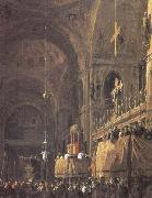 Interior of San Marco (mk25) Canaletto