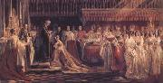 Queen Victoria Receiving the Sacrament at her Coronation 28 June 1838 (mk25) Charles Robert Leslie