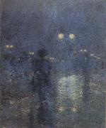 Fifth Avenue Nocturne (mk43) Childe Hassam