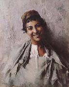 Jeune fille souriant (mk32) Georges Gaste
