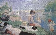 Bathing at Asnieres (mk35) Georges Seurat