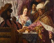 The Feast of Esther (mk33) Jan lievens