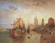 Cologne,the arrival lf a pachet boat;evening (mk31) William Turner