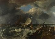 Calais Pier,with French poissards preparing for sea:an English packet arriving (detail) (mk31) William Turner