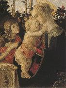 Madonna of the Rose Garden or Madonna and Child with St john the Baptist (mk36) Botticelli
