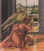 Details of Annunciation (mk36) Botticelli