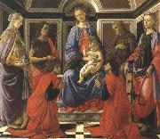 Madonna enthroned with Child and Saints (mk36) Botticelli