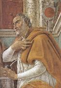 Details of  St Augustine in his Study (mk36) Sandro Botticelli