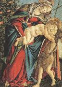 Madonna and Child with the Young St john or Madonna of the Rose Garden (mk36) Botticelli
