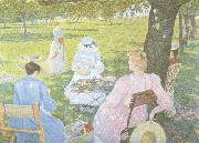 Family in an Orchard (nn02) Theo Van Rysselberghe