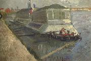 Bathing Float on the Seine at Asnieres (nn04) Vincent Van Gogh