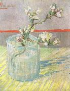Blossoming Almond Branch in a Glass (nn04) Vincent Van Gogh