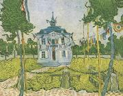 Auvers Town Hall on 14 july 1890 Vincent Van Gogh