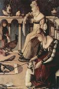 Two Venetian Ladies on a Balcony (nn03) Vittore Carpaccio