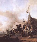 Cavalry at a Sutler's Booth (mk25) WOUWERMAN, Philips