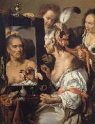 Woman at the mirror Bernardo Strozzi