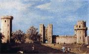 The Courtyard of the Castle of Warwick Canaletto