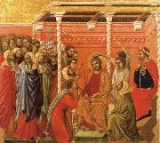 Christ Crowned with Thorns Duccio di Buoninsegna