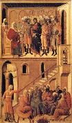 Peter's First Denial of Christ and Christ Before the High Priest Annas Duccio di Buoninsegna