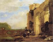 Italian Landscape with the Ruins of a Roman Bridge and Aqueduct Jan Asselijn