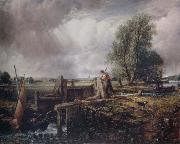 A boat passing a lock John Constable