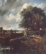 Flatford Lock 19April 1823 John Constable