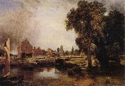 Dedham Lock and Mill John Constable