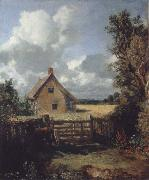 A cottage in a cornfield John Constable