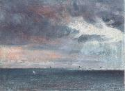 A storm off the coast of Brighton John Constable